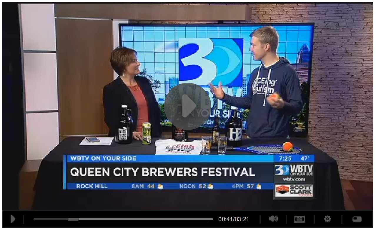 WBTV reports - Queen City Brewers Festival - ACEing Autism