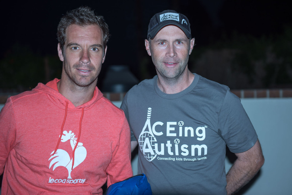 Richard Gasquet and Richard Spurling at Tennis With The Stars by Alex Huggan. Hosted at Omni Rancho Las Palmas Resort & Spa. Managed by Cliff Drysdale.