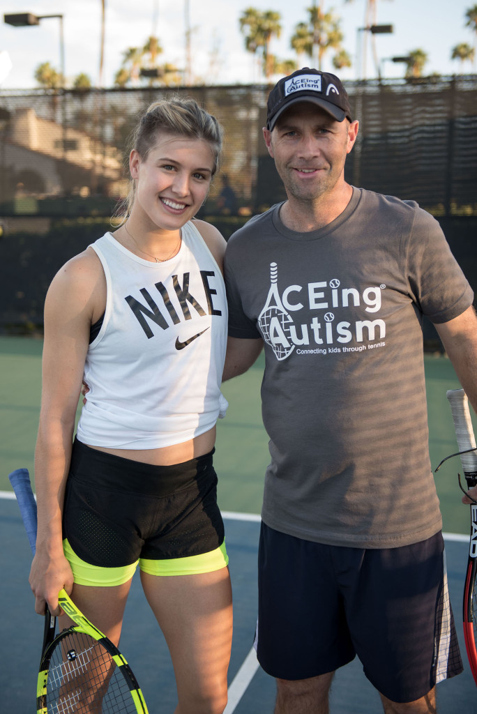 Genie Bouchard and Richard Spurling at Tennis With The Stars by Alex Huggan. Hosted at Omni Rancho Las Palmas Resort & Spa. Managed by Cliff Drysdale.