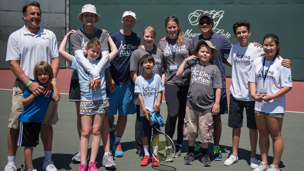 ACEing Autism celebrity tennis tournamnet hosted by Pam Shriver photographed by Alex Huggan