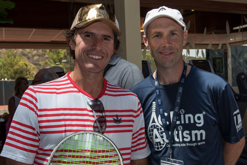 Vince Spadea and Richard Spurling ACEing Autism Celebrity tennis fundraiser and exhibition at MountainGate Country Club photographed by Alex Huggan.