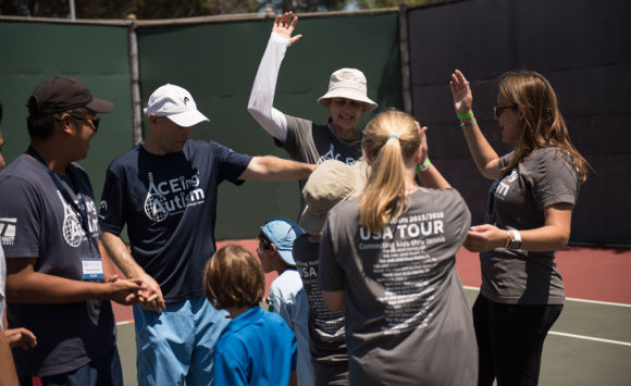 CBS Reports on Pam Shriver visiting ACEing Autism