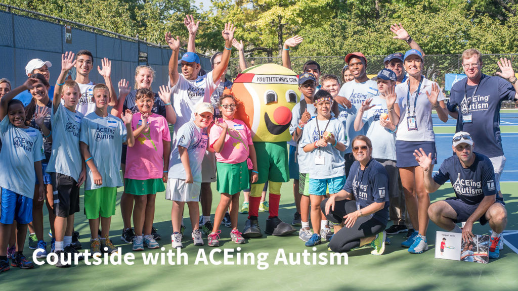ACEing Autism special clinic at the US Open 2016.